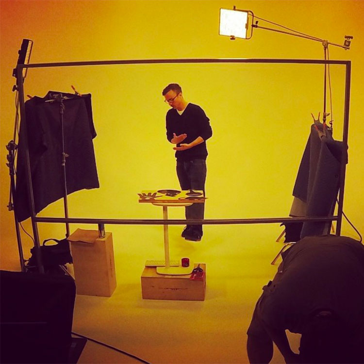 Photo of Kevin Lieber during shoot