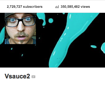 350+ Total Video Views On Vsauce2