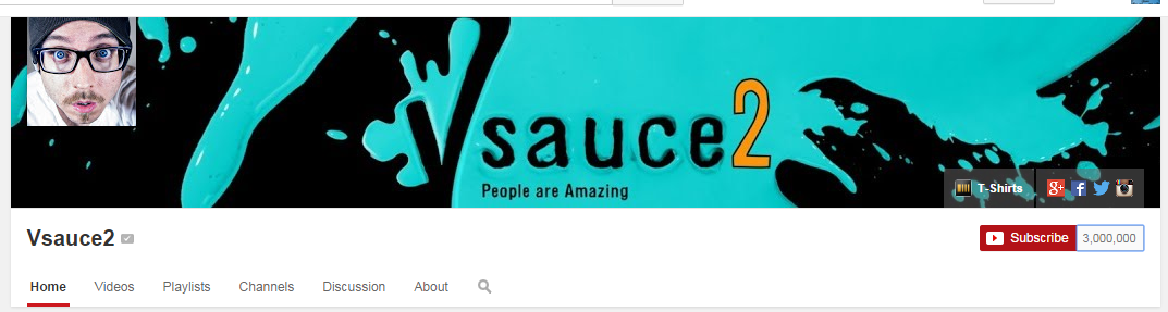 Vsauce2 Hits 3 Million YouTube Subscribers