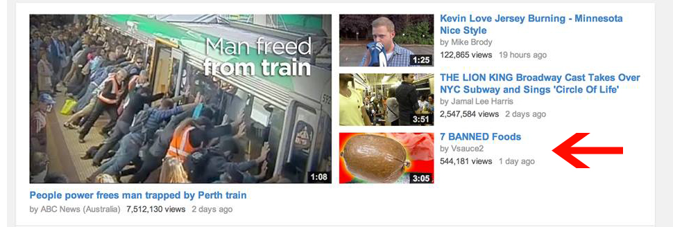 7 Banned Foods showcased on front page of YouTube