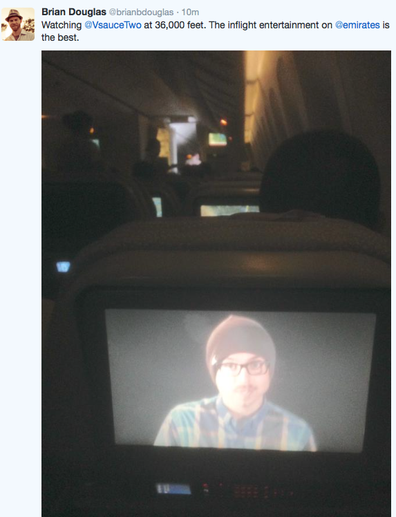Vsauce2 As In-flight Entertainment