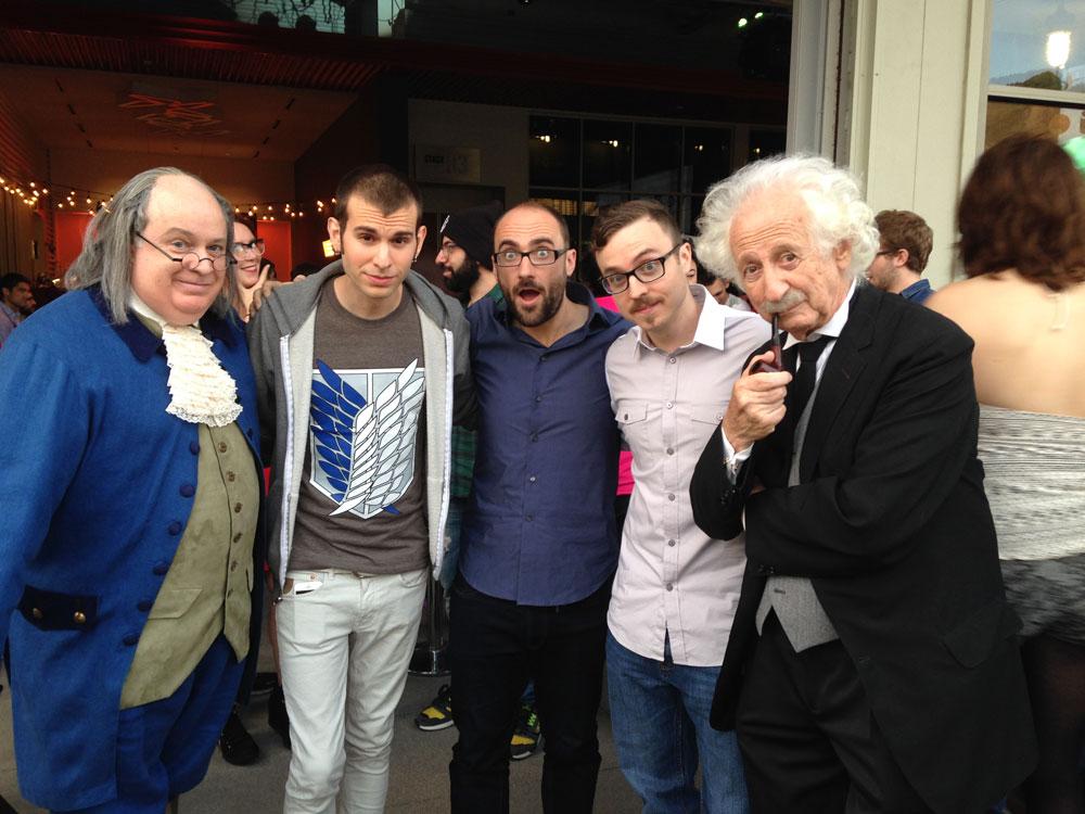 Benjamin Franklin, Jake Roper, Michael Stevens, Myself, Albert Einstein